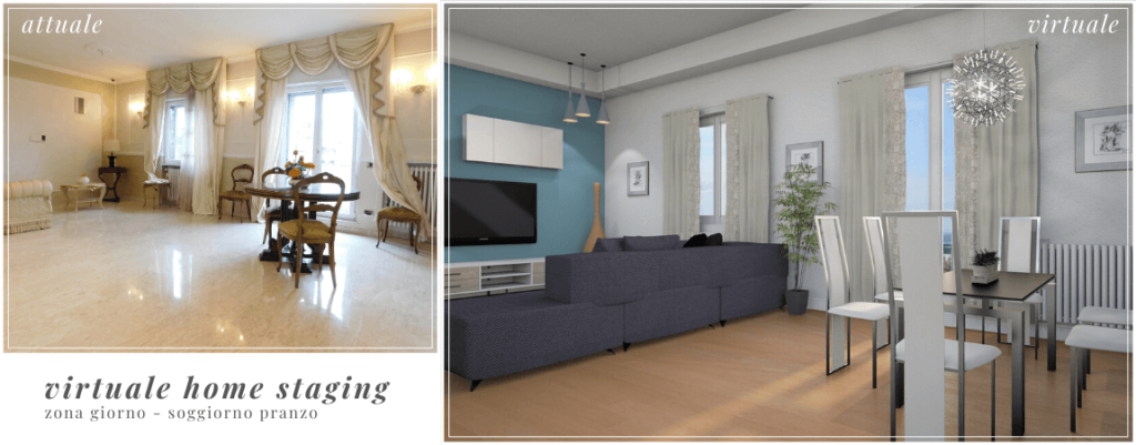 Virtual Home Staging sala - gesthome
